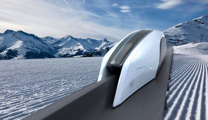 Un train rétro-futuriste et made in France en réponse à l'Hyperloop